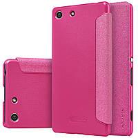 Шкіряний чохол Nillkin Sparkle для Sony Xperia M5 E5633 рожевий, фото 1