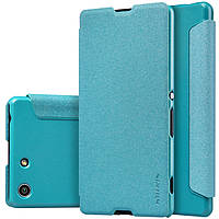 Кожаный чехол Nillkin Sparkle для Sony Xperia M5 E5633 голубой, фото 1
