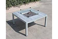 Квадратный уличный газовый стол-камин Monroe GRILLI 95*95 cm