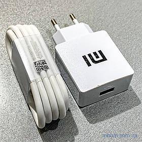 Зарядное устройство к телефону Xiaomi USB 2A + кабель Type-C white