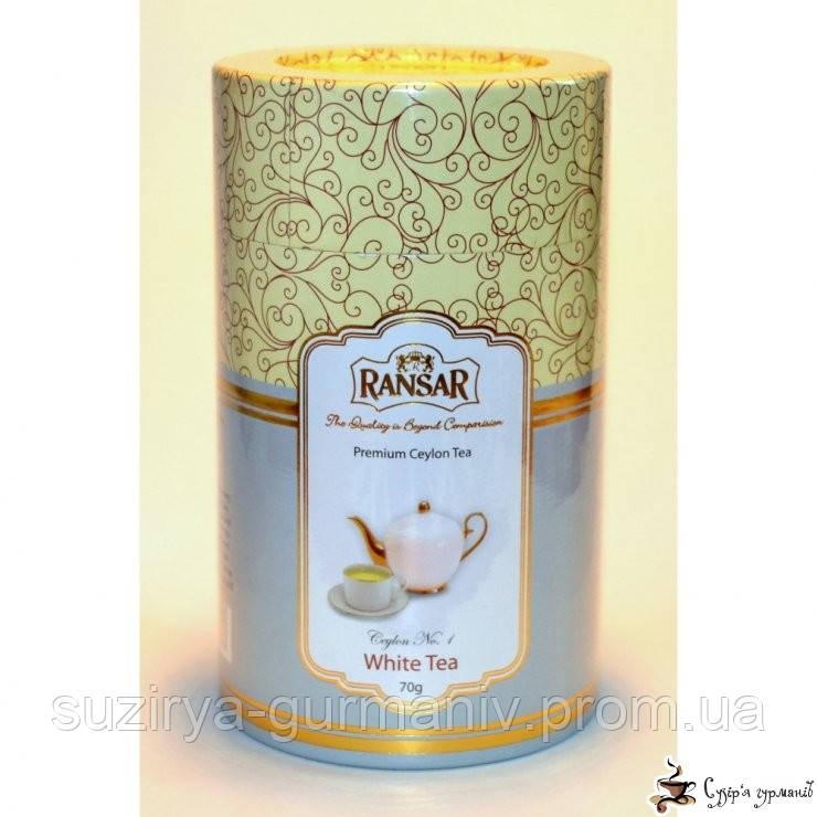 Белый чай RansaR ПРЕМИУМ «White tea» SILVER TIPS ж/б 70г, фото 1