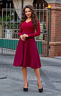 Осеннее женское платье миди, фото 1