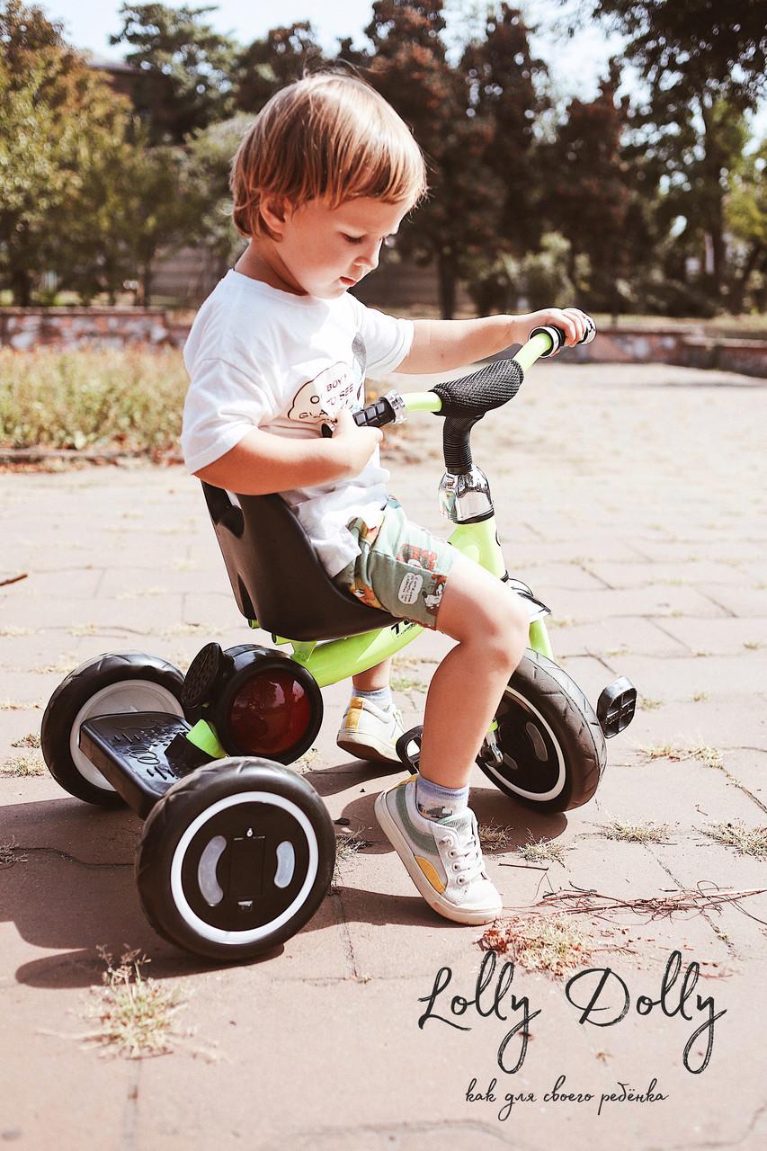 Триколісний велосипед Turbotrike M 3650 з музикою та підсвіткою, салатовий