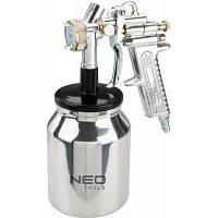 Краскопульт Neo Tools нижний бачек, 1л, 1.4 мм (12-530)