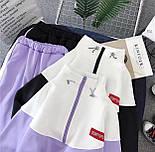 Спортивний костюм жіночий Security з укороченим худі і штанами на манжетах р. єдиний 42-44 77051067, фото 2