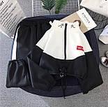 Спортивний костюм жіночий Security з укороченим худі і штанами на манжетах р. єдиний 42-44 77051067, фото 4