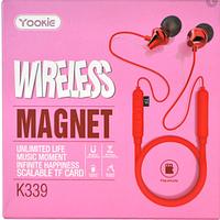 Наушники Yookie K339 Bluetooth магнит