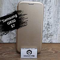 Чохол книжка для Samsung S7 Edge (G935) G-Case Золотий