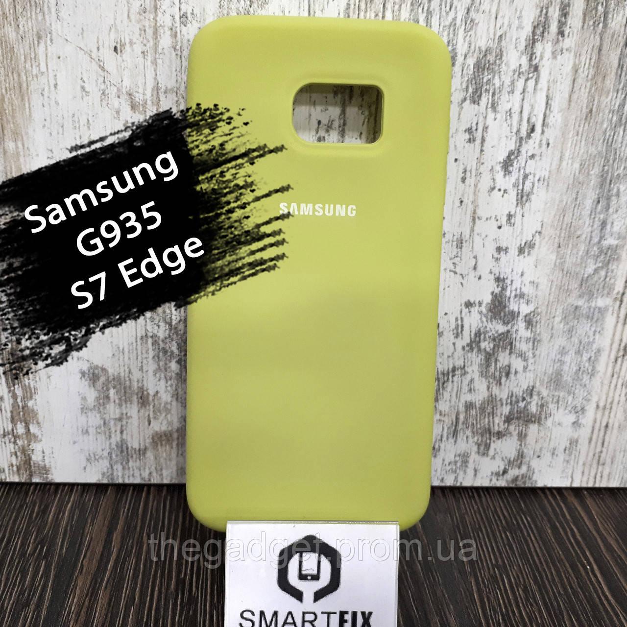 Силиконовый чехол для Samsung S7 Edge (G935) Светло зеленый