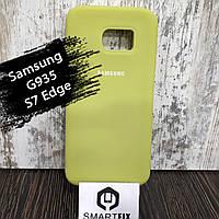 Силиконовый чехол для Samsung S7 Edge (G935) Светло зеленый, фото 1