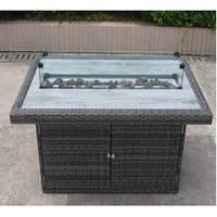 Прямоугольный уличный газовый стол-камин Kingston GRILLI 120*72 cm