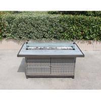 Прямоугольный уличный газовый стол-камин Lake House GRILLI 12275 cm