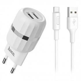 Зарядное устройство к телефону hoco. C41A 2USB 2.4A + Type-C White EAN/UPC: 6957531080602