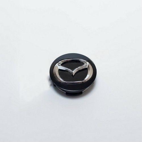 Колпачок для диска    Mazda черный/хром лого (57 мм)