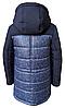 Модные зимние куртки и пуховики для мальчиков принтованные размеры 32-42, фото 5