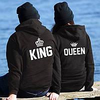 Парные худи. Теплые толстовки для влюбленных. King and Queen