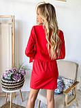 Платье мини длинный рукав софт красное черное хаки  42-44,44-46,46-48, фото 8