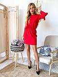 Платье мини длинный рукав софт красное черное хаки  42-44,44-46,46-48, фото 7