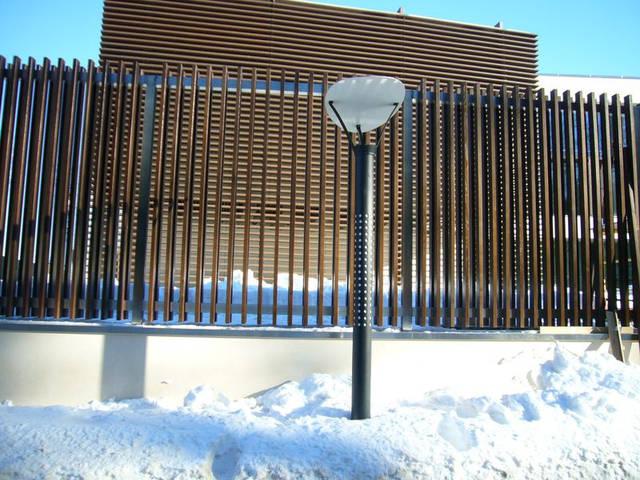 """Забор """"Жалюзи"""" материал брус из термоясеня."""