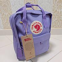Рюкзак FJALLRAVEN Kanken Mini для детей и взрослых 27x22x9 (светло-фиолетовый)