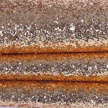 Великий гліттер на тканинній основі, 35х20 см, колір червоне золото