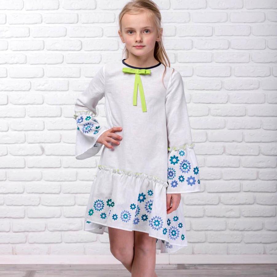 Плаття-вишиванка Moderika Зоряне біле з вишивкою