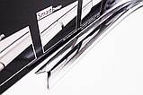 Дефлекторы окон (ветровики) хромированные Mitsubishi Lancer 9 2003-2007 (Autoclover D630), фото 8