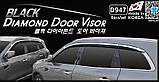 Дефлекторы окон с хром молдингом, ветровики Renault Koleos 2017- (Autoclover/D947/Корея), фото 2