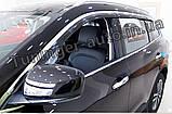 Дефлекторы окон с хром молдингом, ветровики Renault Koleos 2017- (Autoclover/D947/Корея), фото 3