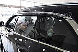 Дефлекторы окон с хром молдингом, ветровики Renault Koleos 2017- (Autoclover/D947/Корея), фото 4