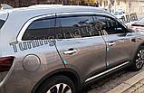 Дефлекторы окон с хром молдингом, ветровики Renault Koleos 2017- (Autoclover/D947/Корея), фото 5