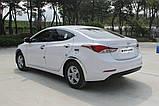 Хром накладки на стопы Hyundai Elantra MD 2013-2014 (Autoclover C497), фото 8