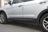 Молдинг дверей хромированный Hyundai Santa Fe 2012-2017 (Autoclover B758), фото 8