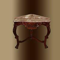 Угловой столик из мрамора