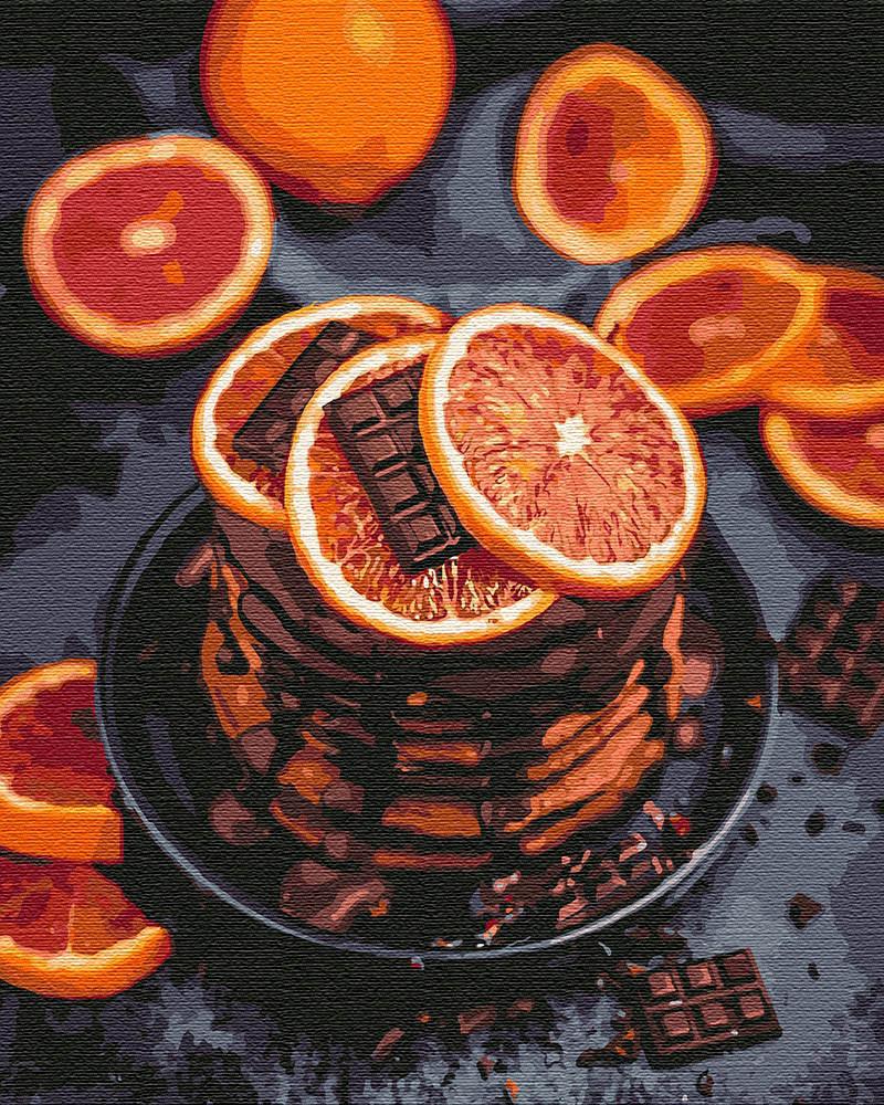 Картина по номерам Апельсиново-шоколадное наслаждение Идейка (KHO5593) 40 х 50 см (Без коробки)