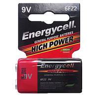 Батарейка Energycell 6F22M-S1 9V (солевая, крона)