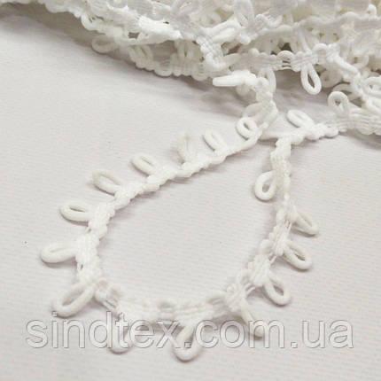 НА ОТРЕЗ Лента (тесьма) с петельками, белая (657-Л-0734), фото 2