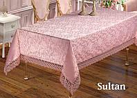 Скатерть  жаккардовая  прямоугольная  160х220  SULTAN  Pudra, Турция, фото 1