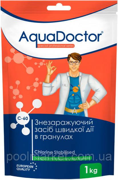 AquaDoctor C-60 1 кг хлор быстрого действия в гранулах
