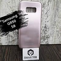 Силиконовый чехол для Samsung S8 (G950) Розовое золото, фото 1