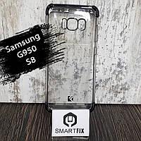 Силиконовый чехол 360° для Samsung S8 (G950) Черный, фото 1