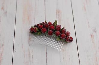 Гребень заколка / украшение /  гребешки для волос в прическу с калиной бородовый
