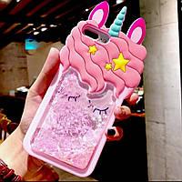 Чехол 3D на iPhone 6s plus Единорог розовый с блестками