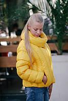 Легкая молодежная женская демисезонная куртка-пуховик