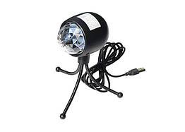 Светодиодная диско-лампа USB 3W Rotating RGB с треногой