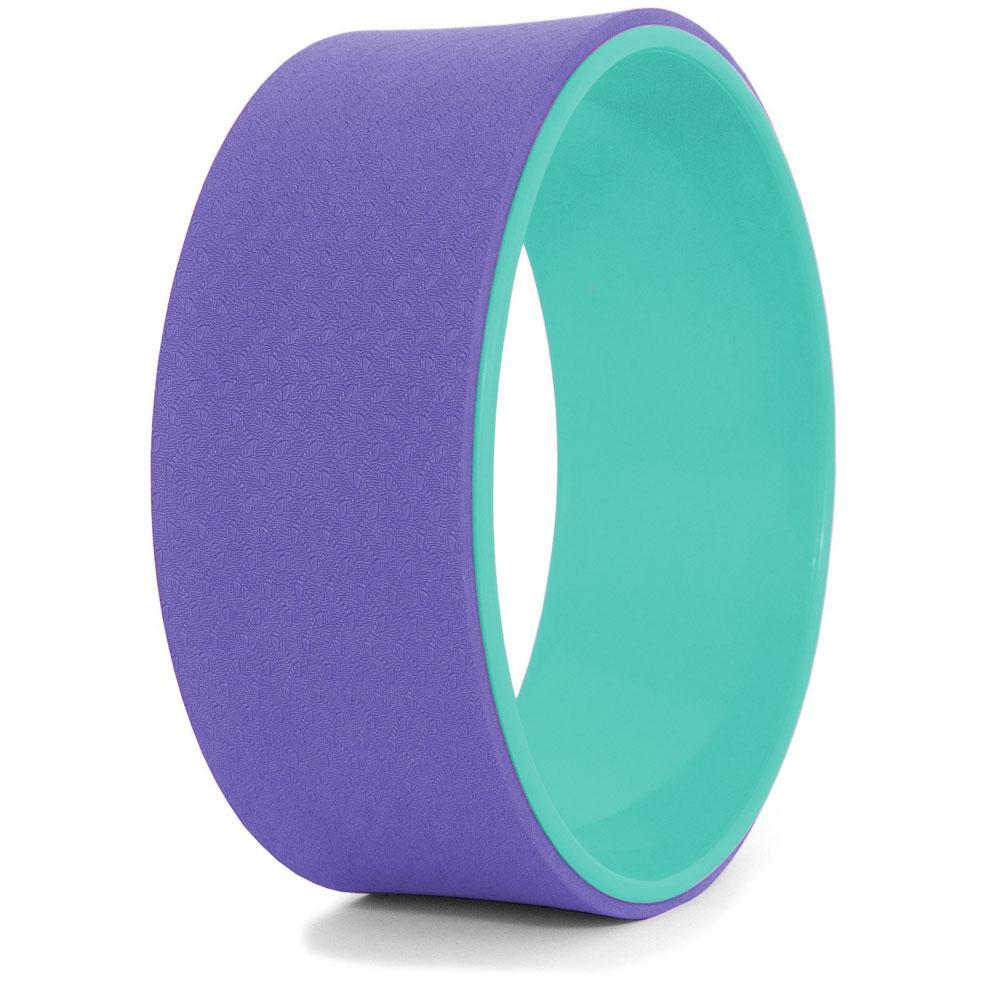 Йога-колесо, фиолетово-бирюзовое, колесо для йоги (NS)