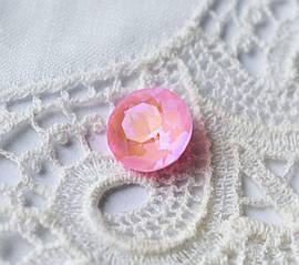 Стрази скляні К9 Шатон 8 мм (SS39), рожевий