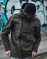 Ветровка мужская осенняя весенняя Soft Shell Mark 2.0 хаки куртка демисезонная | ЛЮКС качества
