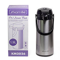 Термос Kamille 1900мл пластиковый со стеклянной колбой   KM-2026, фото 1