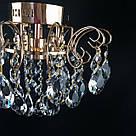 Люстра хрустальная на 8 лампочек в золоте 3-E1795/8, фото 2